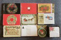 Lot of 10 Vintage Ephermera Christmas Postcards-Holiday Invitations & Note Paper
