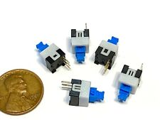 5 X Push Button Latching Tactile Switch 7x7mm Blue Button 3 Pin Micro Onoff B10