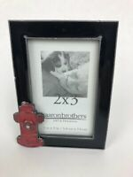 "Aaronbrothers 2.5 x 3.5"" Fire Fighter hydrant Dog Picture Frame - Beautiful -"