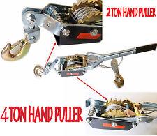 2 Ton Double Gear Car Van Boat Truck Farm Recovery Hand Puller Winch Hoist