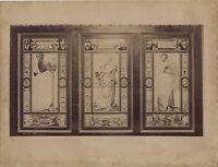Chartres Eglise Sant'Pierre Figurativo Francia Vintage Albumina Ca 1880