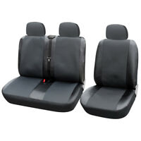 1+2 Car Seat Cover for Transporter/Van Universal with Artificial Leather Gray
