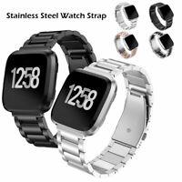 Bracelet montre métal acier inoxydable pour bracelet sans vis Fitbit Versa Lite