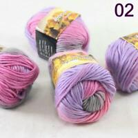 Sale Lot of 4 Balls NEW Knitting Yarn Chunky Hand-woven Colorful Wool scarves 02