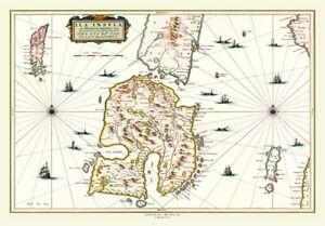 Map of the Isle of Islay Scotland 1654 by Johan Blaeu - 1000 Piece Jigsaw Puzzle