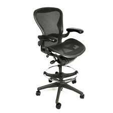 Herman Miller Aeron Drafting Stool with After Market Ring Size A - Free Warranty