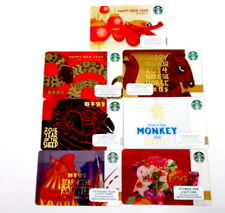 Chinese New Year Collection New Starbucks Cards~ 7 different cards  2011-2017