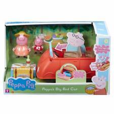 Peppa Pig de Clásico Rojo Grande Coche Playset & 2 Figuras con Sonido Empujar