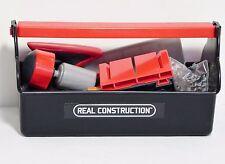 Jakks Pacific Real Construction Toolbox Tool Nails Screws Miter Box Pretend Play