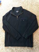 Pendleton 1/4 Zip Fleece Sweatshirt Black Men's 2XL XXL Mock Neck