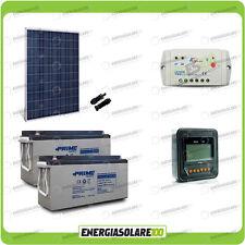 Kit placa solar panel fotovoltaico 280W 24V Baterías 150Ah AGM regulador 10A pan