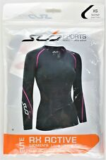 Womens Sub Sports Elite RX Long Sleeve Compression Baselayer NIP ~ Black Pink XS