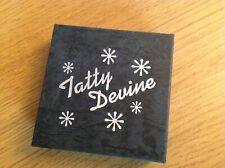 Tatty Devine Black Glitter Star Necklace - In Box