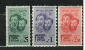 s33556 ITALIA RSI DEALER STOCK 1944 MNH Fratelli Bandiera 3v X 10 SETS