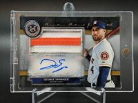 2020 Museum Collection George Springer Momentous Material Patch Auto #d 9/15 SSP