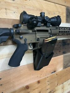 AR wall mount with mag holder , Black, or Gray