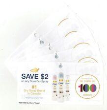 8x Save $2.00 on Dove Spray Deodorant Coups (Canada)