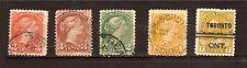 CANADA  timbres de 1873/1908 Queen Victoria,King Georges V  E138