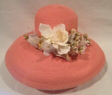 Eric Javits Pink Woman's Orchid Flowers Squishee Hat New York Perfect Nwots Rare