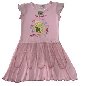 Girls Disney Tinkerbell Nightdress Tinker Bell Nightie Nighty Pyjamas Age 4 - 5