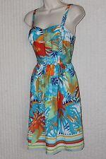 B P,Casual Blue Floral, Rayon Dress Spaghetti Strap,Above Knee,Min Sundress 2