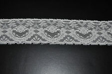 Stretch Elastic Lace Trim for Headbands - 6 cm width - sells per 2 yards