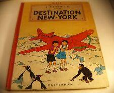 BD Jo, Zette et Jocko Destination New-York 1958 4ème plat B24 Hergé Casterman
