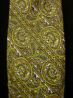 VINTAGE 1960'S-1970'S DACRON POLY OLIVE/LIME GREEN TIE