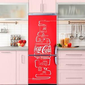 Coca Cola Door decal murals Frgide Sticker Self-adhesive Waterproof Vynil