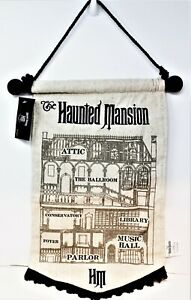 Disney The Haunted Mansion Room Map Layout Rooms Wall Sign Scroll Halloween New