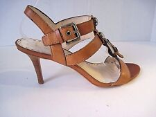 3f78ed052247 Coach Shoes A3175 Brown Leather Heels Sandals Studded Buckle Slingback Size  8B