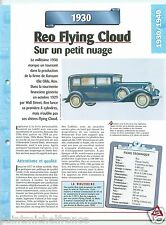 Reo Flying Cloud 6 Limousine 6 Cyl. 1930 USA Car Auto Retro FICHE FRANCE
