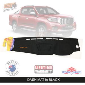 Dash mat for LDV T60 PRO LUXE SK8C Suits all models July/2017-2020 DM1493 Black