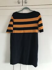 Cos Navy And Orange Stripe Dress Size Small