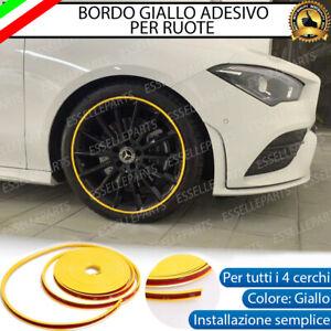 CONTORNO GIALLO BORDO CERCHI IN LEGA ADESIVO MINI PACEMAN R61 CLUBMAN R55