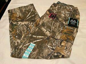 REALTREE EDGE Women's Cotton Blend Flex CARGO PANTS - Size L (12-14)-NWT