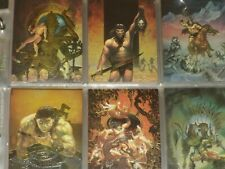 CONAN All-Chromium Complete Base Set of 90 Trading Cards w/Variant Set & Promo