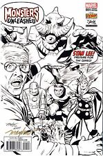 MONSTERS UNLEASHED #1 STAN LEE CAMEO Signed Mike Mayhew B&W Variant Cover & COA