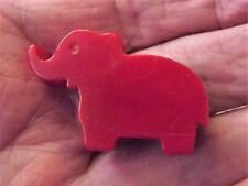 Vintage Cherry Red Bakelite ELEPHANT Pocket Pencil Sharpener