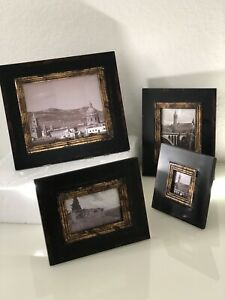 4 X BLANCHED WOOD MATCHING PHOTO FRAMES FREESTANDING EXCELLENT.