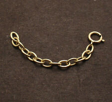 Oval Cable Chain 4 Bracelet Necklace Extender Lock Clasp Real 14K Yellow Gold