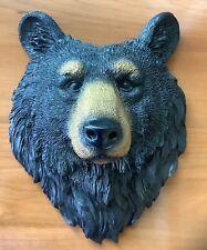 Resin Black Bear Wall Mount Bust