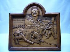 """Dale Earnhardt #3 Creative Carvings. """"The Intimidator"""" Wall Plaque Nascar decor"""