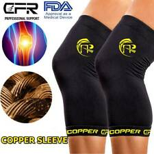 Copper Compression Knee Support Sleeve Brace Sport Joint Pain Relief Arthritis