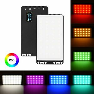 Colorful RGB LED Video Light Compact Photography Bi-color Temperature