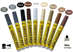 Grout Pen Revives & RestoresTile Grout Anti-Mould Avaliable In 9 Colours