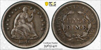 1840 O H10C Seated Liberty Half Dime PCGS XF 45 Extra Fine to AU With Drapery...