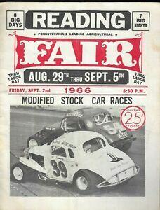 1966 Reading(PA) Fair - Modified Stock Car Races Souvenir Program