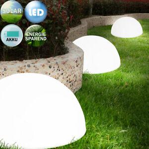 LED Solarleuchte Gartenleuchte Kugel halbrund Gartenlampe Wegeleuchte Garten
