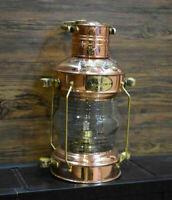 Nautical Anchor Copper Oil Lamp Vintage Maritime Boat Ship Lantern Light Decor